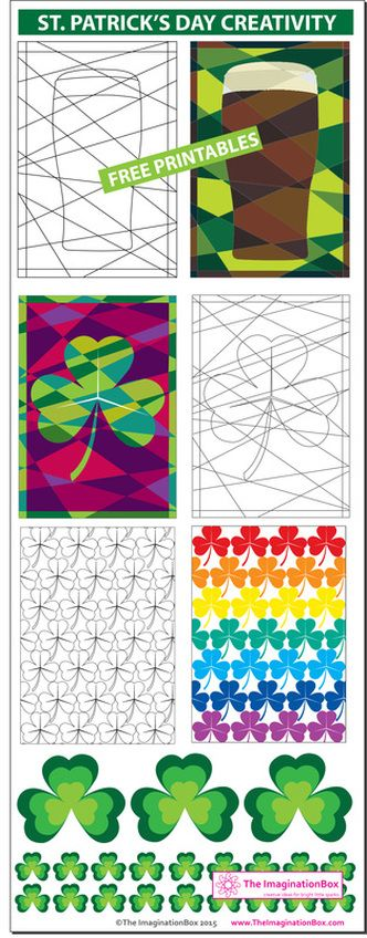 Get creative and celebrate St Patrick's day with this collection of free printable art and craft activities for all the family