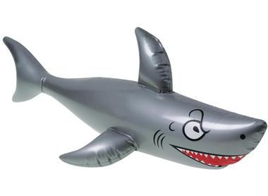 "Nope, its not jaws, but the kids will play keep away from this inflatable shark at the next pool party. Includes 1 inflatable shark.Includes (1) Inflatable Shark. Plastic; 40""""W."