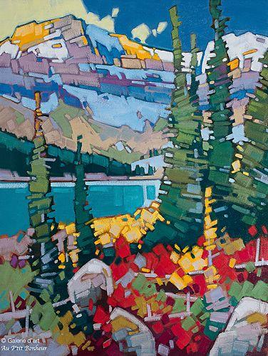 Cameron Bird, 'Evening Calm Over Cameron Lake', 30'' x 40'' | Galerie d'art - Au P'tit Bonheur - Art Gallery