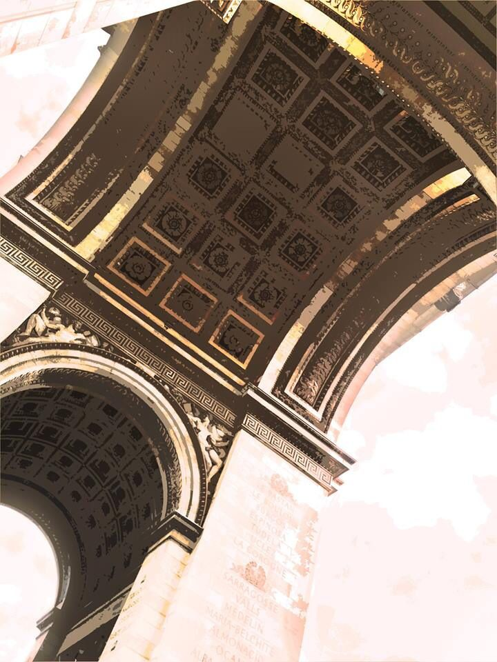 The Arc of Triomphe, Paris. France