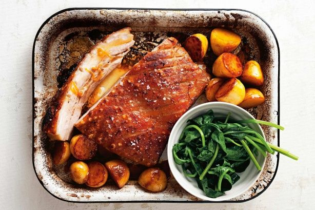 Orange and Coriander Pork Belly with Caramelised Potatoes