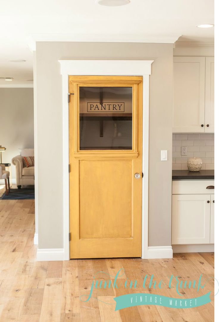 17 best ideas about kitchen pantry doors on pinterest for Kitchen cabinets no doors