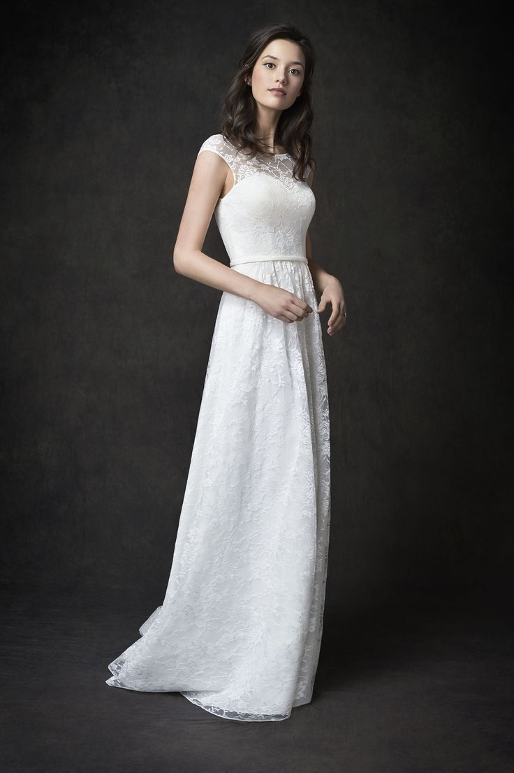 The dress gallery - Gallery Style Ga2286 Gorgeous All Over Lace Gown With Cap Sleeves And Lace Illusion