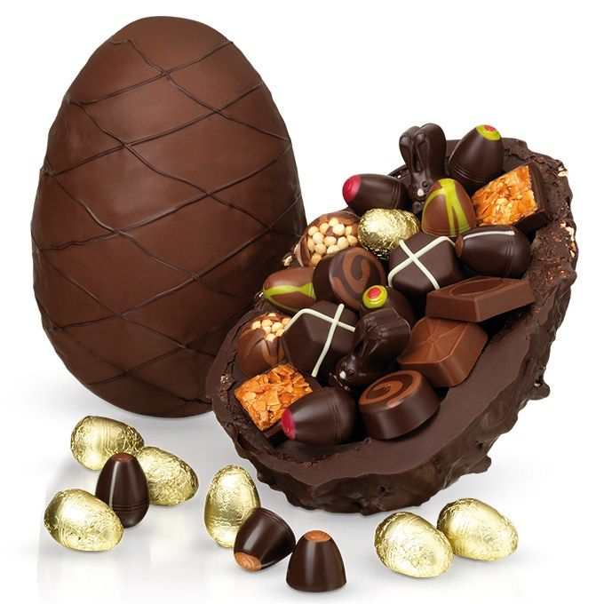 Best 25 luxury easter eggs ideas on pinterest easter breakfast the half half ostrich egg a truly giant easter egg one half milk with crispy feuilletine and the other dark chocolate studded with almonds negle Images