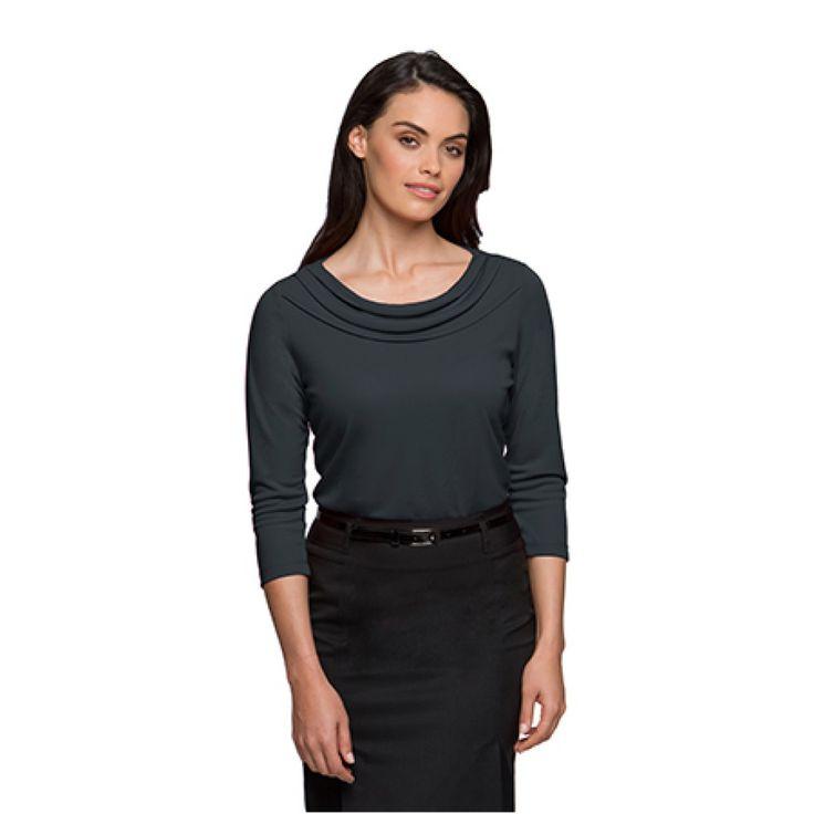 City Collection Eva Cowl 3/4 Sleeve Top – 2226