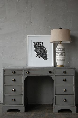 Must paint old desk in room this dark gray.