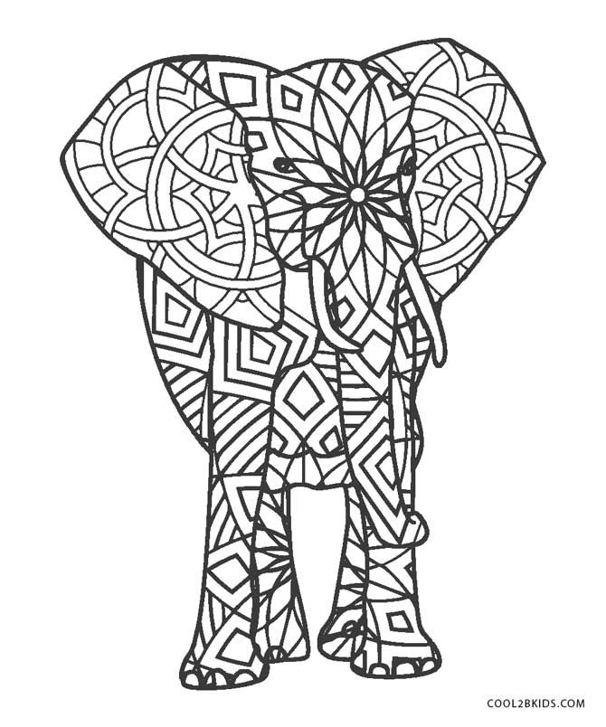 Free Printable Elephant Coloring Pages For Kids in 2020 ...