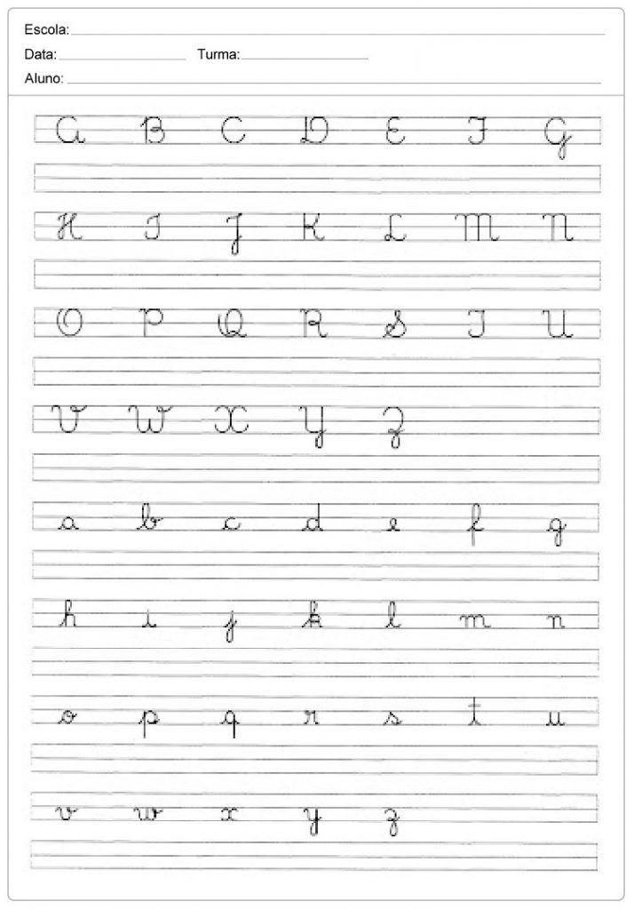 Alfabeto Pontilhado Com Imagens Caligrafia Do Alfabeto