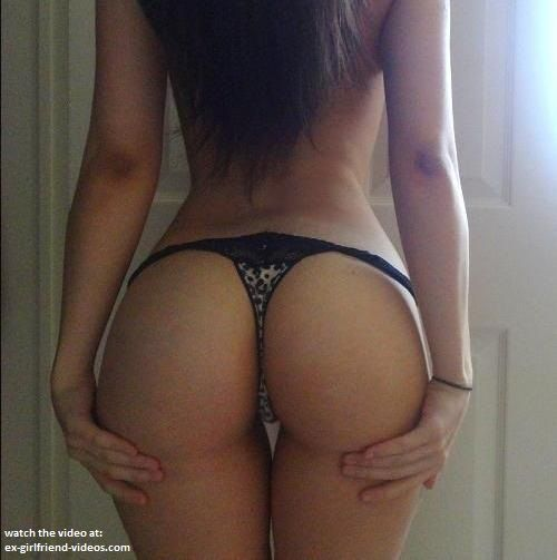 Ass in tiny thong