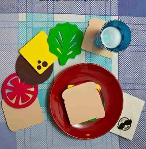 Posa vasos sandwich goma eva comidas de juguete - Lamparas con goma eva ...