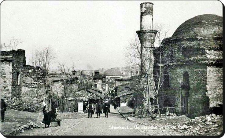 Mercan Yokuşu ve Yavaşça Şahin Mehmet Ali Paşa Camii - 1920'ler