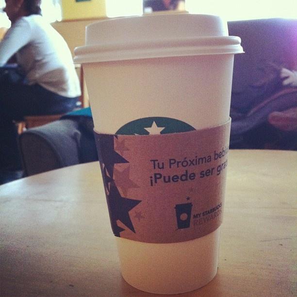 Delicioso #ChaiLatte con leche de soya sin agua de #Starbucks.