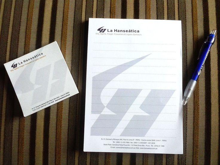 Tacos de Papel,Block de notas y lapiceros para LA HANSEATICA. Hacemos pedidos personalizados. Informes y Ventas: 981 599 414 ernestopretto@gmail.com