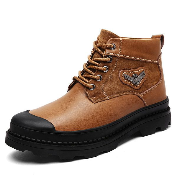 men leather water resistant wearable high top boots  men leather water resistant wearable high top boots  #men's shoes