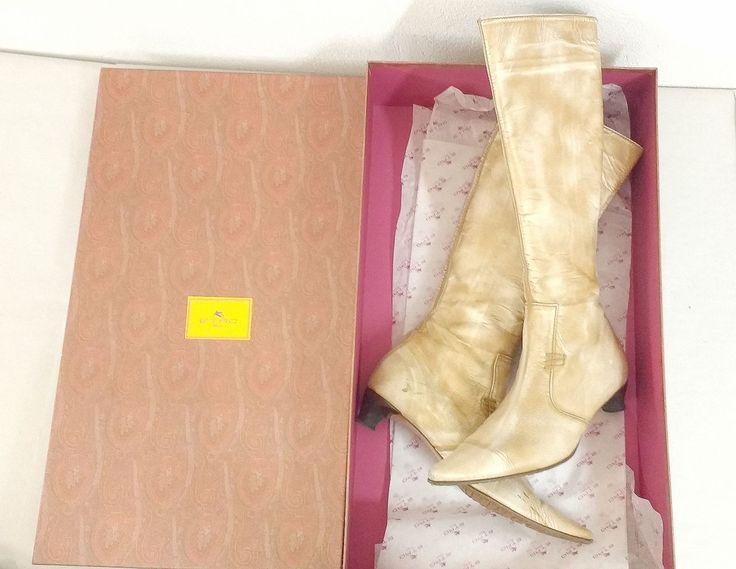 ETRO italienische Damen Luxus Designer Leder Stiefel Gr 39 Boho Hippie Schuhe in Kleidung & Accessoires, Damenschuhe, Stiefel & Stiefeletten | eBay