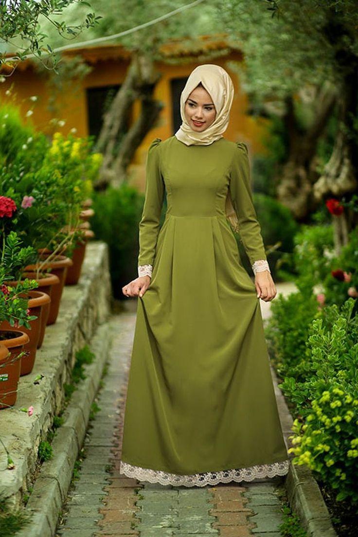 Mevra - Berre Elbise Haki