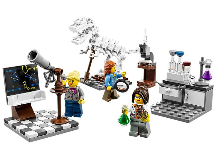 Research Institute | Features 3 scientists, all female! A paleontologist, a chemist, and an astronomer!