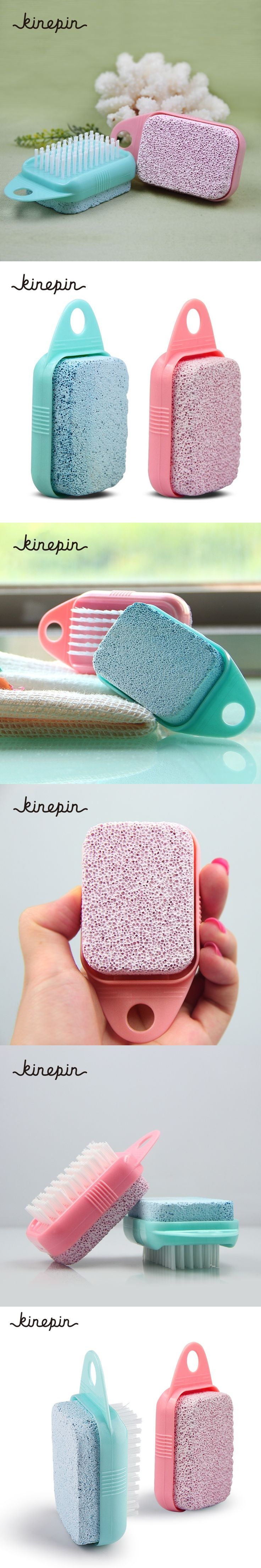 Foot Care Callus Brush Pumice Grinding Feet Stone Scrubber Pedicure Exfoliate Remover Cleaning Dust Dead Skin