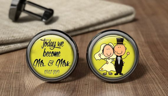 Wedding Cufflinks To Become Mr And Mrs by OurCufflinkShop