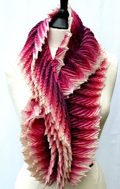 Lovely Arashi Shibori scarf from Anne Selby