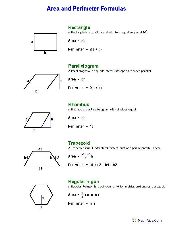 Hexagon Area Worksheets Geometry Worksheets Area And Perimeter