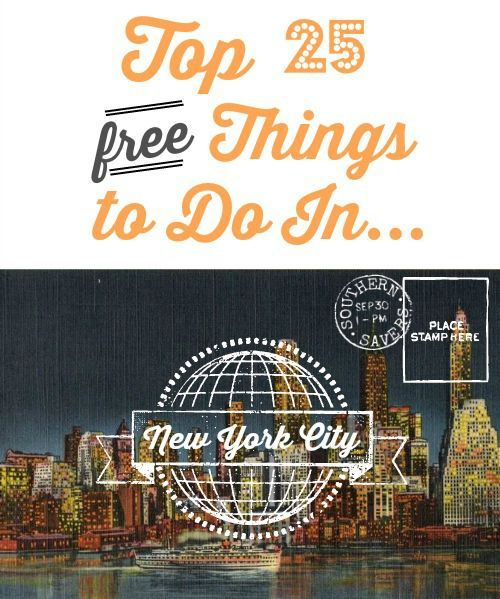 Here is a list for the top 25 FREE things to do in New York City! Who doesn't need a list of cool free things to do in a great city!