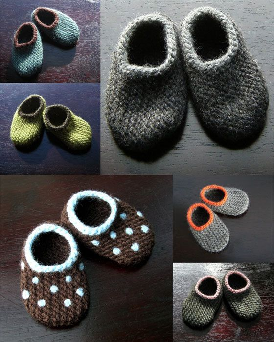 sweet hand-knit baby booties