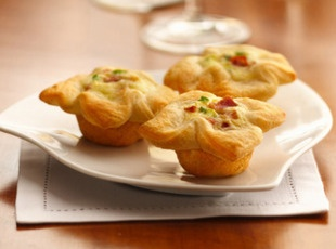 Crescent Bacon Cheese Tartlets | Recipe | Cheese Appetizers ...