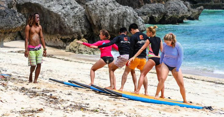 Learn with guaranteed results from the best stand on your first Bali surfing lesson. Get the thrill of standing on your first wave! #balisuringlesson #balisurfing #surfinglesson #balisurf