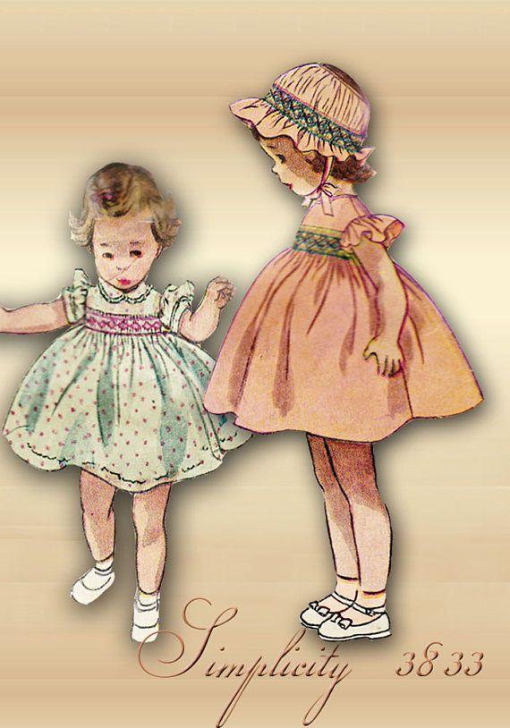 Toddler Dress Smocked Bodice Lace Trim Peter Pan Collar