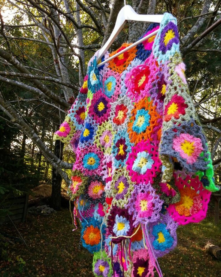 Crocheted poncho