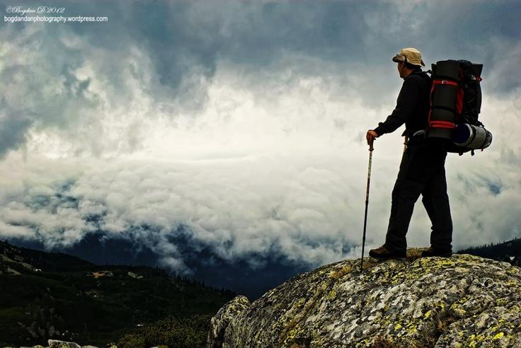 Caspar Friedrich was an inspiration.  More details and photos:  http://bogdandanphotography.wordpress.com/2012/05/18/retezatwhen-men-and-mountains-meet-day-2/