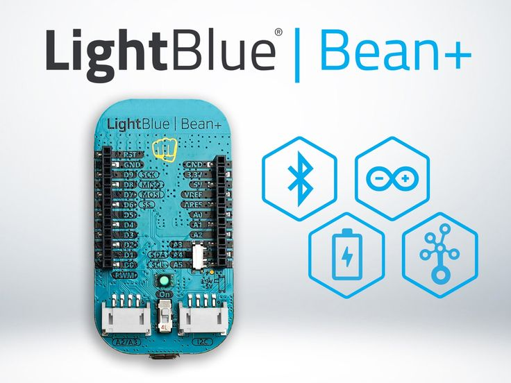 The LightBlue Bean+ is an Arduino-compatible board that is programmed wirelessly using Bluetooth Low Energy.