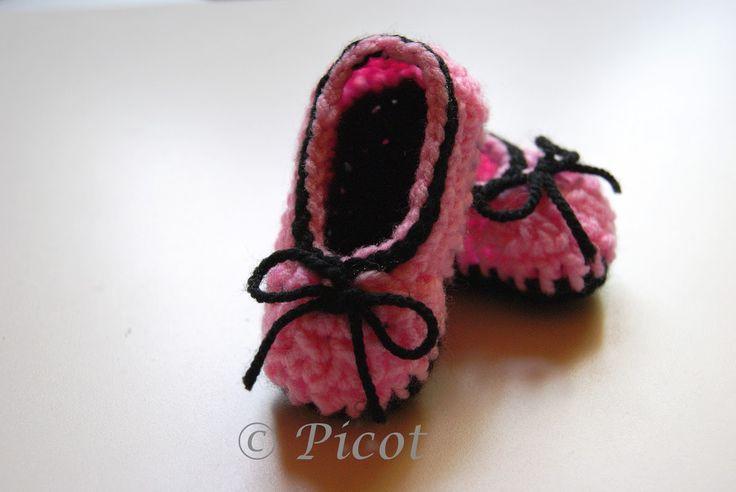 Picot - Szydełkowe Inspiracje: Szydełkowe balerinki