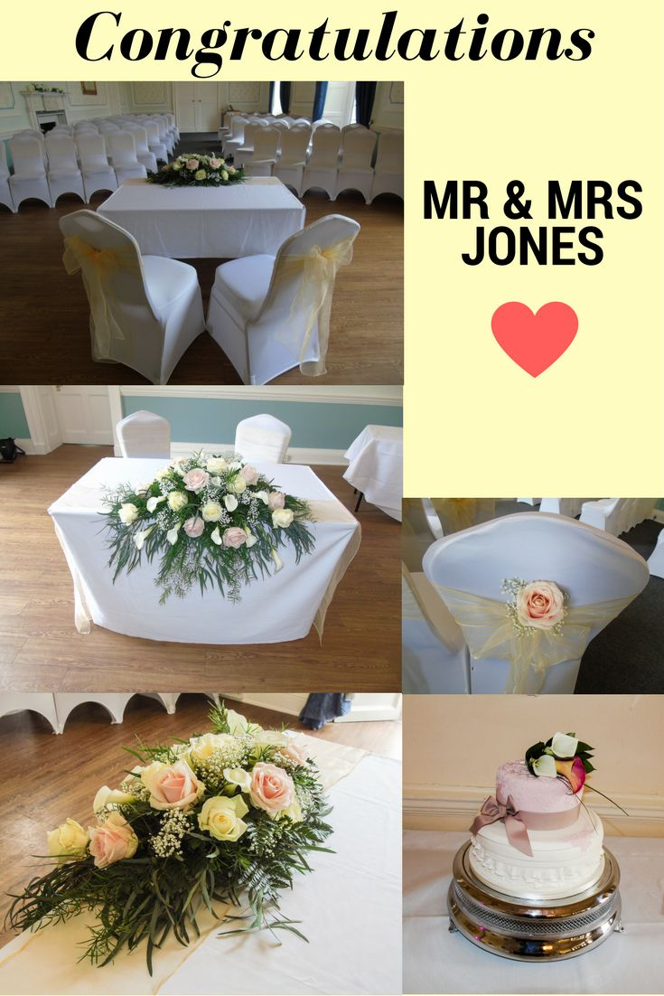 Congratulations to Mr and Mrs Jones, who got married at Merley House last week! Their wedding decorations included pale yellows and pinks which looked beautiful! Spring is such a beautiful time to have a wedding!
