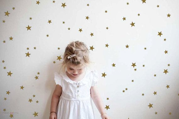 Gold stars wall stickers. Brighten up any room with our lovely mini star wall stickers. Simply just peel from the sheet and stick on any dry, clean