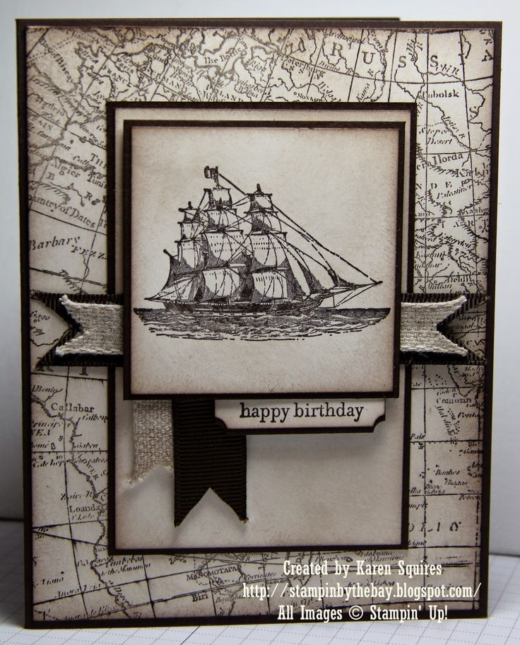 World Map, Open Sea. Stampin' By The Bay