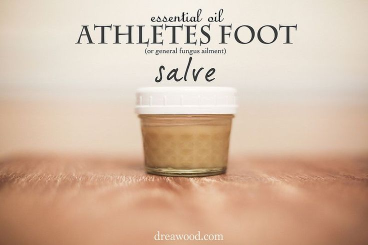 Learn how I used a few essential oils into a homemade foot salve to cure my husbands stubborn athletes foot in just 5 days! | dreawood.com