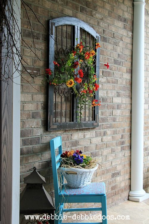 Brick Patio Wall Designs brick designs for patios facelift n brick patio wall designs Thrifty Chair Makeover For Seasonal Porch Make A Fun And Very Inexpensive Welcome