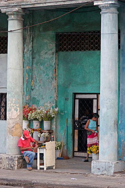 Cuba - La Havane - photos - fleuriste