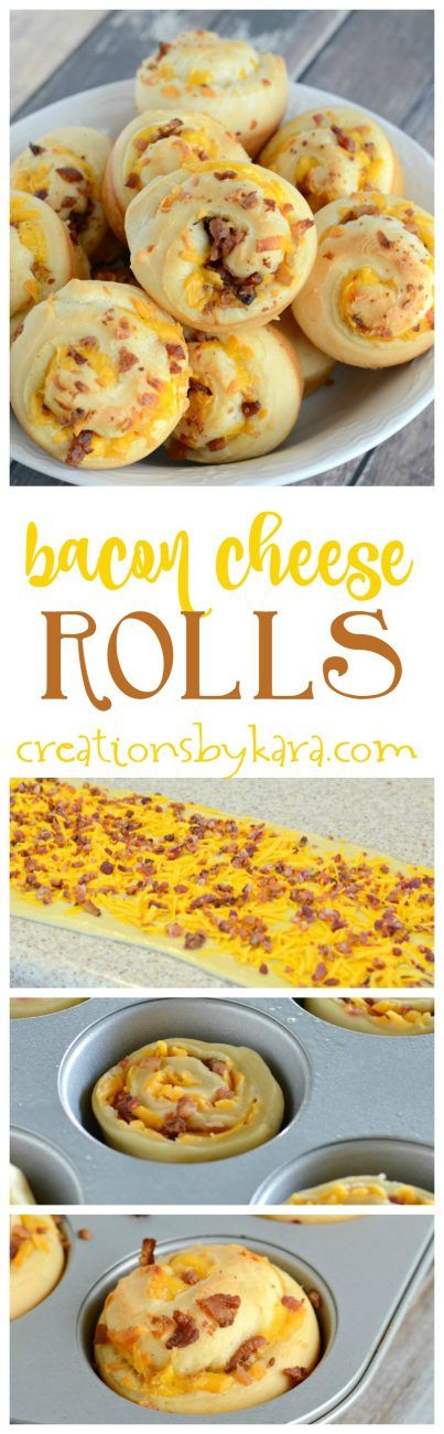 These Homemade Bacon Cheese Rolls are absolutely scrumptious! Serve them with a bowl of soup for a hearty meal.