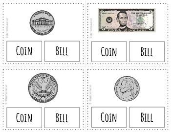Us Money Names And Values Task Cards
