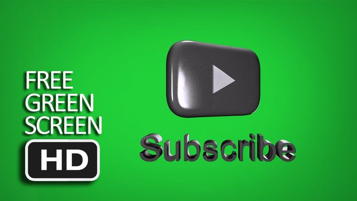 Free Green Screen - Spinning 3DYoutube Subscribe Button