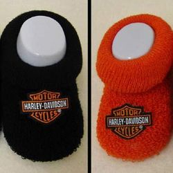 These Adorable Harley Davidson Baby Booties Make A Great Baby Shower Gift  For Harley Rider Parents. Sized For Babies Months Old, You Get 2 Pair Of ...