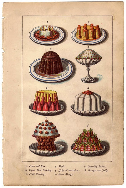 Illustrations from Warnes Model Cookery by Mary Jewry, circa 1868