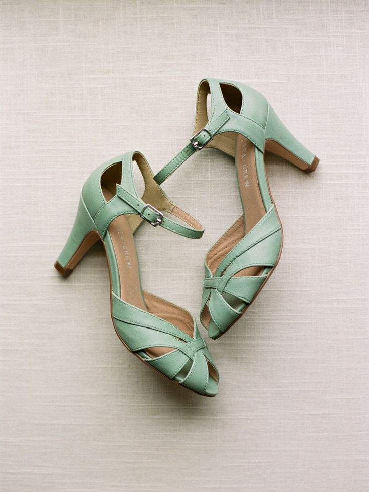 Mint Vintage Bridal Shoes