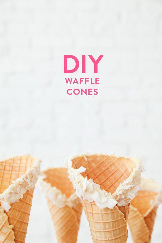 Cones Designlovefest, Homemade Waffles, Cones Yum, Waffle Cones