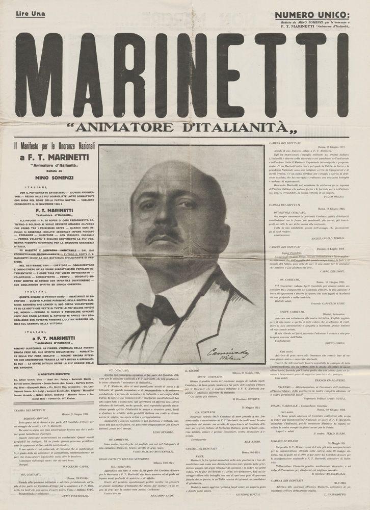 Marinetti Animatore d'Italianità, numero unico, 23 novembre 1924