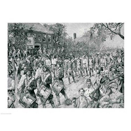 The Continental Army Marching Down the Old Bowery New York 25th November 1783 Canvas Art - Howard Pyle (36 x 24)