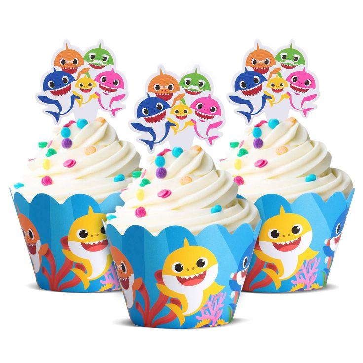Cute Baby Shark Party Supplies Cute Shark Cupcake Topper